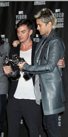 Jared and Shannon Leto of Thirty Seconds To Mars, winners at the MTV Awards