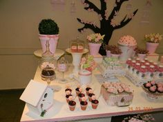 Flowers Party - check out the cherry blossom tree decor... this will make a great pin the tail on the ...
