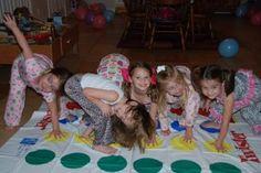 PJ Night Activities: Everyone loves Twister! #pjnight