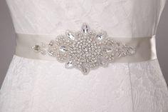 Rhinestone Crystals Wedding Belt, Bridal Sash  $40.99