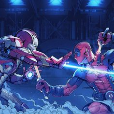 Which Deadpool movie do you think is best?  ironman Vs deadpool fan art By Yulin Li  #Deadpool #Deadpool2 #Marvel #Movies #Film #Comic #Comics #ComicArt #ConceptArt #Fantasy #Scifi #IronMan #Avengers