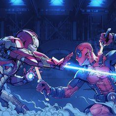 Which Deadpool movie do you think is best? ironman Vs deadpool fan art By Yulin Li #Deadpool #Deadpool2 #Marvel #Movies #Film #Comic #Comics #ComicArt #ConceptArt #Fantasy #Scifi #IronMan #Avengers