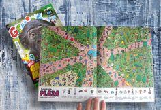 Ilustrador Alexiev Gandman: Buscando en la Plaza - Revista Genios 939