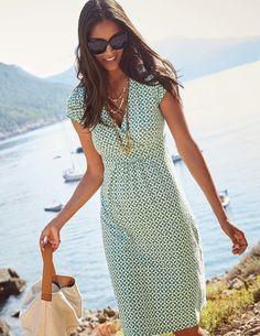Robe Décontractée en Jersey, forme classique, lunettes de soleil