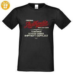 Zum 20. Geburtstags-Tshirt / Überraschungs-Geschenk für Männer / Print-Motiv: Authentic Since 20 Years Farbe: schwarz Gr: S (*Partner-Link)
