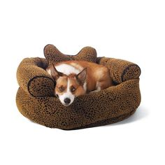 Flocked Animal Print Comfy Pet Couch