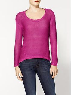 RD Style Fuschia Pullover Sweater | Piperlime