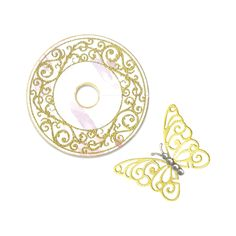 Sizzix Framelits Die Set 2PK w/Stamps - Wine Glass Charm & Butterfly - Catalog