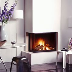 30 Chic Home Design Ideas – European interiors. 23 Great Interior European Style Ideas To Not Miss Today – 30 Chic Home Design Ideas – European interiors. Corner Gas Fireplace, Country Fireplace, Grey Fireplace, Small Fireplace, Home Fireplace, Candles In Fireplace, Fireplace Remodel, Modern Fireplace, Living Room With Fireplace