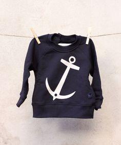 Anchor Sweatshirt - Navy / Emma & Malena - Söt by Sweden Anchor Sweater, Pullover, Sewing For Kids, Hoodies, Sweatshirts, Tween, Cool Kids, Baby Boy, Graphic Sweatshirt