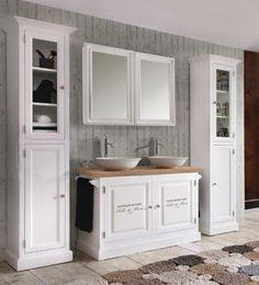 Landelijk badkamermeubel Sven met spiegel | badkamer renovatie ...