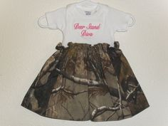 Deer Stand Diva Dress by 2HeartsSewing on Etsy, $24.00