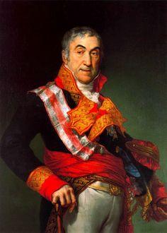General Francesc Xavier de Rocabertí de Dameto i Boixadors, 11è. Marquès de Bellpuig, 10è. Marquès d'Anglesola, 11è. Comte de Peralada, G.E., Vescomte de Rocabertí (1802-1875) / By Vicente López Portaña, 1816-1817.