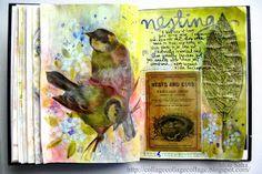 My Life in Collage: Tim Holtz Idea-ology Wallflower Vellum in my art journal