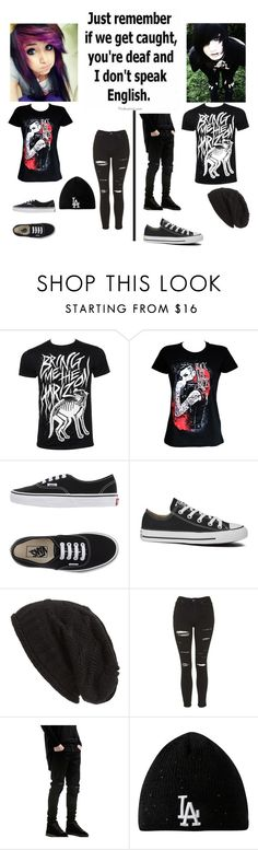 """""""BVBxBMTH"""" by nightmare-and-daydreams ❤ liked on Polyvore featuring Vans, Converse, David & Young, Topshop, New Era, women's clothing, women, female, woman and misses"""