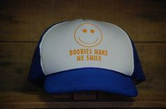 1980's Novelty Hat  Trucker Hat  Blue and White by TheOtherGhost, $16.00