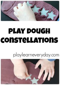 A fun way to play with play dough and learn about space, stars and constellations.