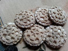 Crochet Buttons Vintage/Antique. Two Styles. by BlackSheepYarns