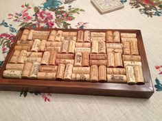 Wood frame + wine corks = potholder!!!