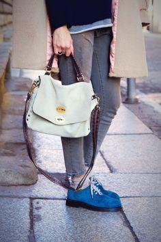 My look:  Sweater and Denim ANIYE BY  Coat GOTHA  Shoes DA.D  Bag POSTINA by Zanellato  Sunglasses ARMANI vintage