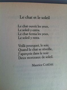Maurice Carême, Le Chat et le Soleil, l'Arlequin