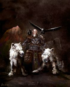 'Odin, The Ruler Of Asgard' by *Redan23. (Click to view large size.)