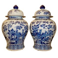A Pair Of Porcelain Jars With Covers