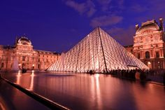 A landmark of Paris, France, the Louvre is located on the Right Bank of the Seine River. More than 8 million visitors pass through the museum's halls each year and nearly 35,000 objects are exhibited here.