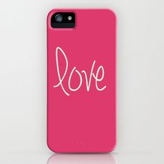 Love In Pink  iPhone Case by secretgardendesigns - $35.00