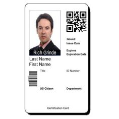 Photo Id Badge Template DOWNLOAD At Httpwordtemplatesbundlecom - Card template free: employee id card template