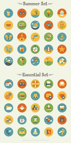 50 Free Summer And Essentials Icons