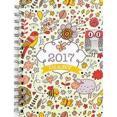 A5 2017 planner 2017 diarylife by HappieScrappieCrafts on Etsy