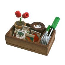 Sparrow Innovations Miniatures Flower Gardening Box