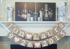 Bride Groom Name banner bridal shower banner by lolaandcompany