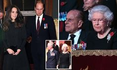Kate joins the Queen at Royal Albert Hall for Festival of Remembrance #DailyMail