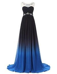 ++ Dress U Women's Gradient Long Evening Party Dresses Chiffon Prom Gown Ombre Reviews by ohmatics
