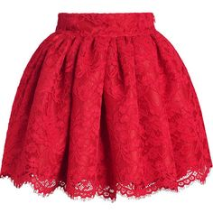 Red Floral Stylish Lace Bubble Skirt ($28) ❤ liked on Polyvore featuring skirts, bottoms, saias, red, bubble skirt, floral printed skirt, knee length lace skirt, lacy skirt and flower print skirt