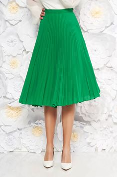 StarShinerS green elegant cloche skirt voile fabric folded up high waisted, inside lining, voile fabric, folded up, side zip fastening Product Label, Folded Up, Suits You, Body Measurements, Size Clothing, Best Sellers, High Waisted Skirt, Curvy, Bloom