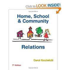 Home, School, and Community Relations --- http://www.amazon.com/School-Community-Relations-Carol-Gestwicki/dp/1435401085/?tag=pinterest1061-20