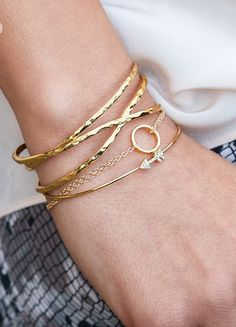 Beautiful layered bracelets http://rstyle.me/n/jrk4dnyg6