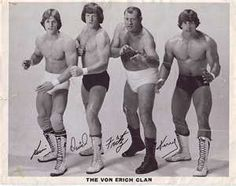 Von Erich Wrestling Family!! Kevin, David, Fritz (Father) & Kerry (future Texas Tornado)!!