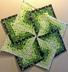 St Patrick's | Quilt | Table Runner | Irish Star Table Topper | Triangle Frenzy Swirl