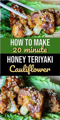 Do you know how to make honey teriyaki cauliflower bites? Try making this asian inspired vegan dish!