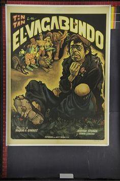 El Vagabundo Ernesto Garcia Cabral - Chango - Mexican one sheet linen backed rare original movie poster