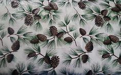 0315 Pinecone Glitter 100 Cotton Fabric 44  w BTY | eBay