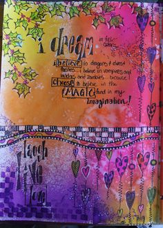 The Scrappy Chick: Art Journal pages in my NEW Dylusions Creative Journal
