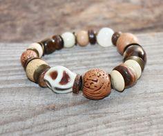 Mixed bead bracelet  Beaded gemstone bracelet  Boho by TaniaSh