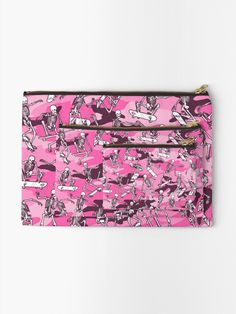 """Grim Ripper Skater Camo PINK"" Zipper Pouch by GrandeDuc | Redbubble"