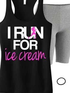 The Truth! I Run for Ice Cream #Running tank top. Look great and motivate! Only $24.99 on Etsy, click here to buy https://www.etsy.com/listing/204828434/i-run-for-ice-cream-tank-top-workout?ref=shop_home_active_24