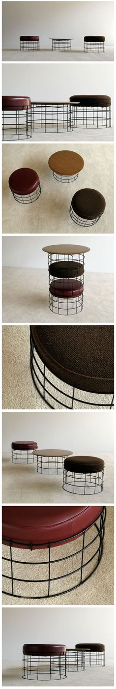Club chairs + coffee table by Danish designer Verner Panton for Plus-linje (1959) vernerpanton.com